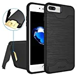 iPhone 7 Plus Case,Allovit [Kickstand] [Heavy Duty] [Hard PC + Soft TPU] Dual Layer Shock Protective Wallet Case for iPhone 7 Plus 5.5