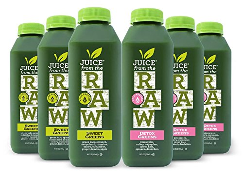 Juice From the RAW 3 Day ORGANIC Juice Cleanse - Maintenance Greens - 18 Bottles