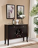 dark kitchen cabinets Kings Brand Furniture - Dark Cherry Finish Wood Wine Cabinet Breakfront Buffet Storage Console Table