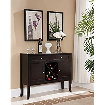 Amazon Com Kings Brand Furniture Dark Cherry Finish Wood Wine