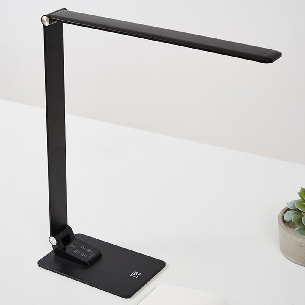 JR Home LED-Tischlampe aus Metall, 6 6 6 Helligkeitsstufen und 5 Farbtemperaturen – 3000 K, 3500 K, 4000 K, 5000 K und 6000 K, ultradünne Aluminiumlegierung, Touch-Sensing und Keine Blendung B07C14MQNZ | Reichhaltiges Design  928529
