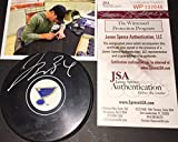 Jake Allen St Louis Blues Autographed Signed Puck JSA Witness COA