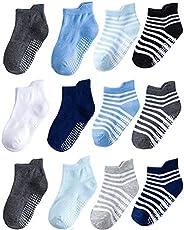 HewMay Baby Socks Anti Slip Socks Winter Cotton Toddler Boys Girls 12 Pairs Non Skid Socks Kids Athletic Socks