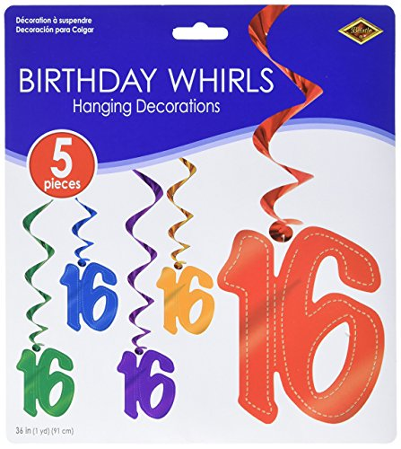 16 Whirls (asstd colors) (5/Pkg)