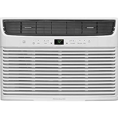 Frigidaire 10,000 BTU 115V Window-Mounted Compact Temperature Sensing Remote Control, White Air Conditioner (Renewed)