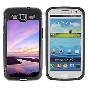 LASTONE PHONE CASE / Suave Silicona Caso Carcasa de Caucho Funda para Samsung Galaxy S3 I9300 / Nature Pink Sky