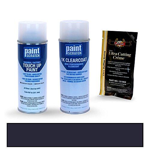 2011 Jeep Wrangler Jet Black (Hard top color) RXF Touch Up Paint Spray Can Kit by PaintScratch - Original Factory OEM Automotive Paint - Color Match Guaranteed (Jeep Wrangler Hardtop Paint compare prices)