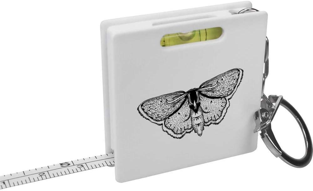 KM00005054 Spirit Level Tool Azeeda Pretty Moth Keyring Tape Measure