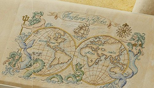 World Map series 5 counted cross stitch kits 166x144 stitch,