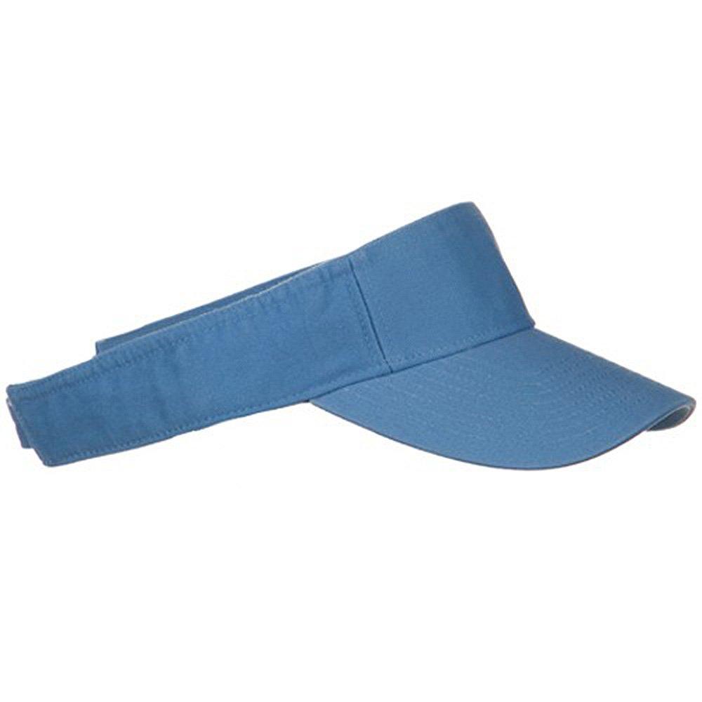 Pro Style Cotton Twill Washed Visor Light Blue OSFM