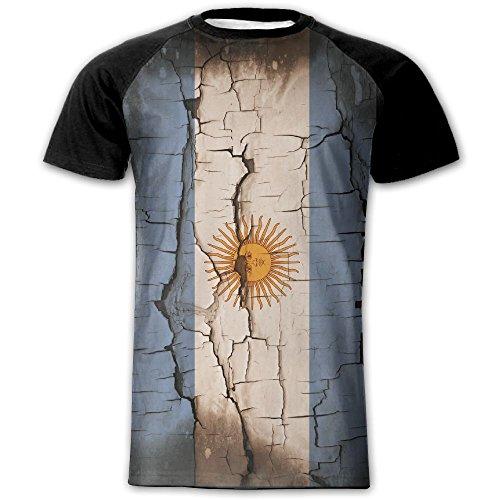 ETDragon Mens Argentina Sun Flag Cool Fashion Short Sleeve Shirt - Sun Argentina