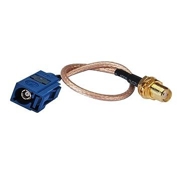 "PC-Case 6 en RF Cable eléctrico Conector Fakra ""C"" hembra a"