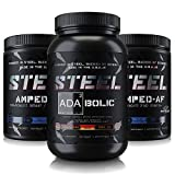 Steel Supplements | The Enhanced Pre-Workout Stack (Strawberry Banana/Blue Raspberry/Blue Raspberry)