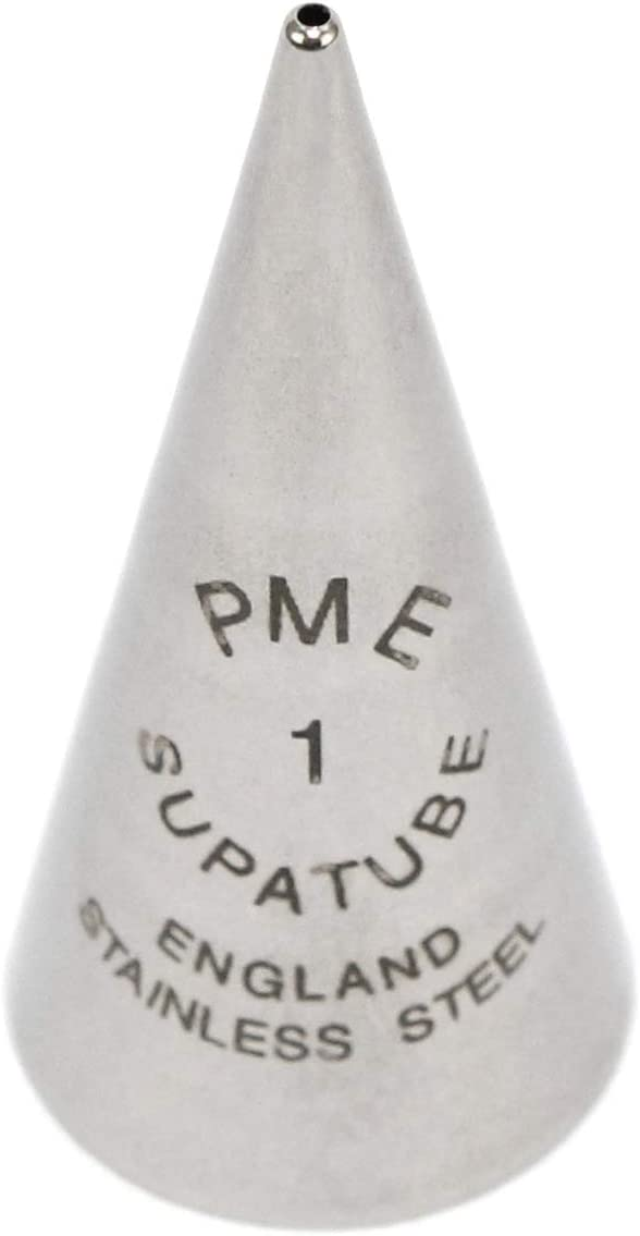 PME Seamless Stainless Steel Supatube Decorating Tip, Writer #1, Standard, Silver
