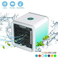 EFUTY Portable Air Conditioner Portable - The Quick & Easy Way to Cool Any Space, As Seen On TV, Artic Air Personal Air Cooler, Cooling Fan, Personal Air Conditioner, Evaporative Cooler, Swamp Cooler
