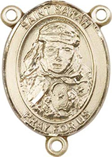 14K Gold Filled Saint Sarah Rosary Centerpiece Medal, 3/4 Inch