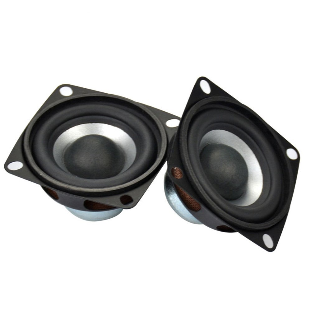 AIYIMA 2Pcs 2Inch Audio Portable Speakers Full Range Speaker 4Ohm 12W DIY Stereo HiFi Horn Loudspeaker Home Theater Accessories by AIYIMA