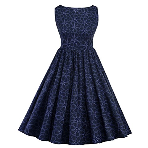YOUJIA Damen Elegant Spitzenkleid Rockabilly Kleid Ärmellos ...