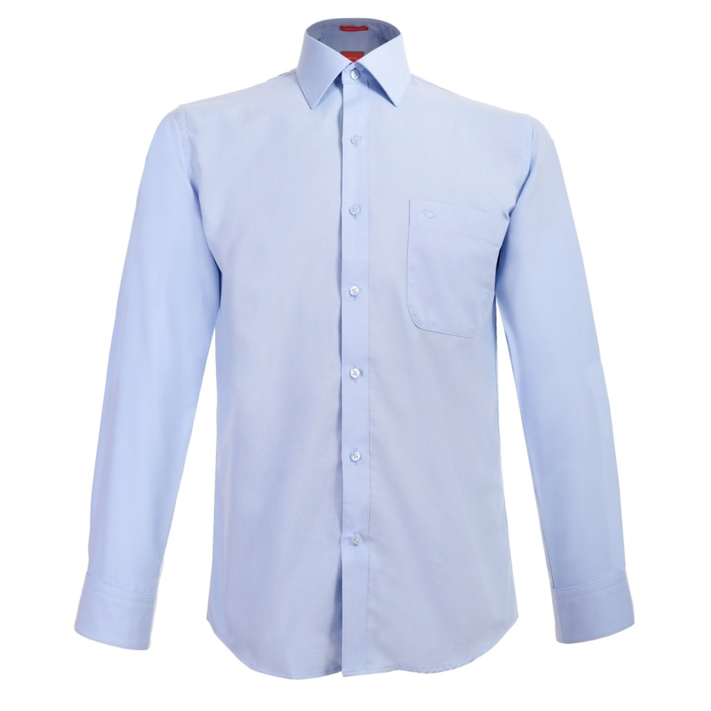 bf5a71e25b Oscar de la Renta Camisa Vestir Caballero Manga Larga Azul 18 34-35   Amazon.com.mx  Ropa