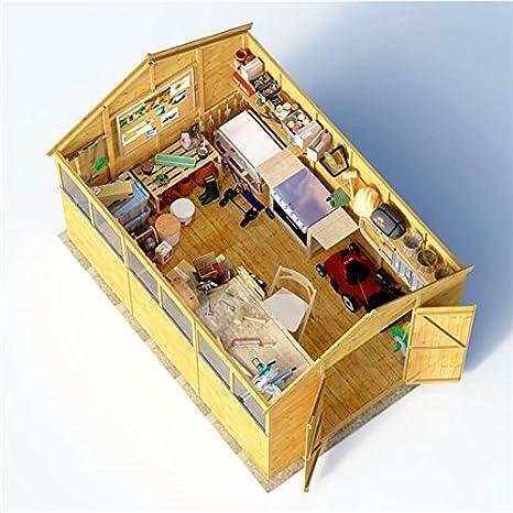 12 x 8 cobertizo de madera experto BillyOh la lengua y Groove Apex taller cobertizo: Amazon.es: Jardín