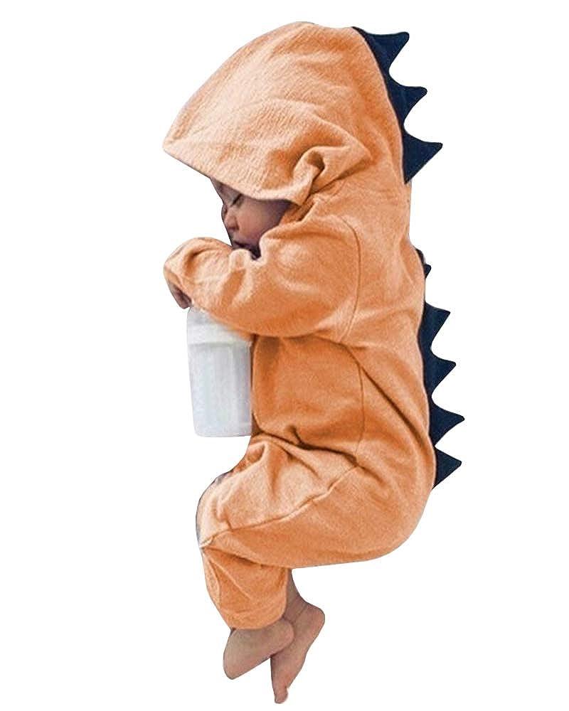 ggjfnv Baby Girls Boys Romper Cotton Baby Jumpsuit Hoodies Newborn Overalls Clothes Kids Children Dinosaur Costume