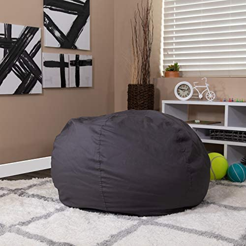 Flash Furniture Oversized Solid Gray Bean Bag Chair - the best bean bag chair for the money