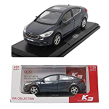 KIA K3 Planet Blue 1:38 Diecast Miniature Display case included Front door Forte