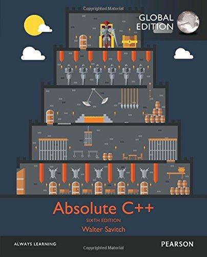 Absolute C++ (Englisch) Taschenbuch – 25. Mai 2016 Walter J. Savitch Prentice Hall 1292098597 Programmiersprachen