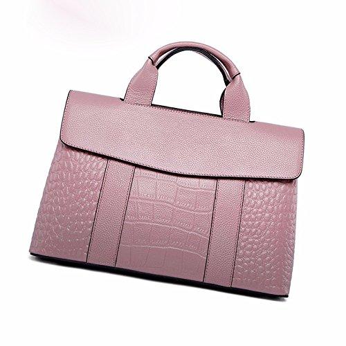De De PU La Bolso Mujeres Pink La Genuino Del Del De Cuero Las Manija De Bolso Del Crossbody Hombro Cocodrilo Bolso Superior Señora THxgfEH