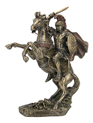 - Bronzed Finish Alexander the Great on Horseback Statue