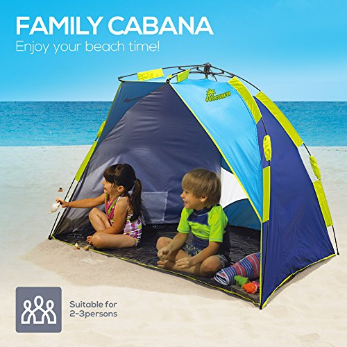Beach Tent Nacuwa Pop Up Lightweight Sun Shelter 2-Person Portable SPF 50  sc 1 st  C&ing Companion & Beach Tent Nacuwa Pop Up Lightweight Sun Shelter 2-Person ...
