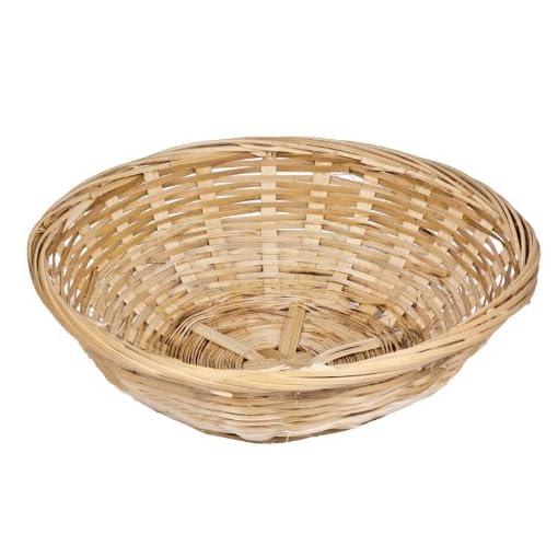 Juego-de-12-Vintage-de-mimbre-Natural-redondo-pan-cestas-de-bandejas