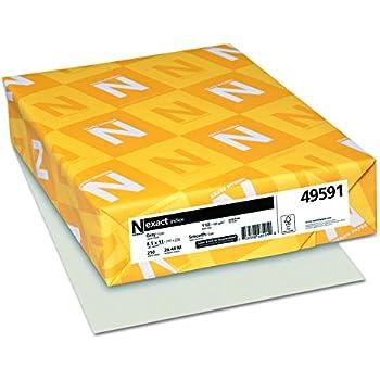 "Exact Index Cardstock, 8.5"" x 11"", 110 lb/199 gsm, Gray, 250 Sheets (49591)"