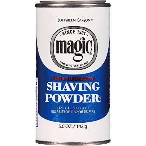 Razorless Shaving for Men by SoftSheen-Carson Magic Regular Strength Shaving Powder, For Normal Beards, Formulated for Black Men, Depilatory, Helps Stop Razor Bumps, 5 oz