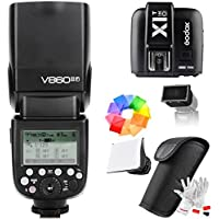 Godox V860II-F 2.4G TTL Flash with X1T-F Wireless Trigger for Fujifilm Fuji Cameras GN60 1/8000s HSS 1.5S Recycle Time 650 Full Power Pops 22 Steps of Power Output