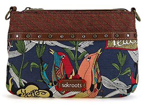Sakroots Artist Circle Campus Mini Cross-Body, River Peace, One Size