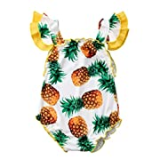 Specialcal Baby Girls Swimsuit One Piece Pineapple Print Ruffle Bathing Suit Swimwear Beachwear (6-12M, Pineapple)