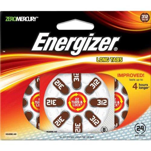 Hearing Aid Batteries-Energizer EZ Turn & Lock Hearing Aid Size 312 Batteries 12-pack