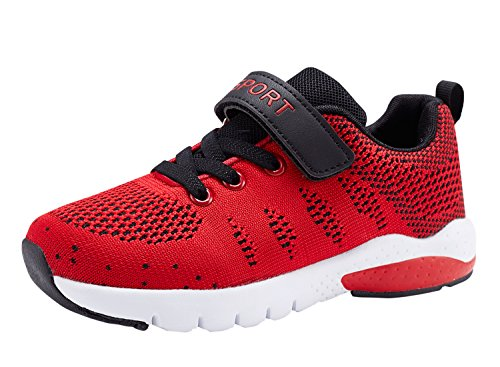 Caitin Kids Running Tennis Shoes Lightweight Casual Walking Sneakers for Boys and Girls, 1#red, 13 M US Little Kid (Boys 13 Sneakers Size)