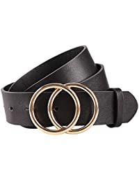 Women's Leather Belt Fashion Soft Faux Leather Waist...