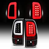 For 2008-2016 Ford F250 F350 F450 F550 SuperDuty Black LED Tube Tail Brake Lights Pair Left+Right
