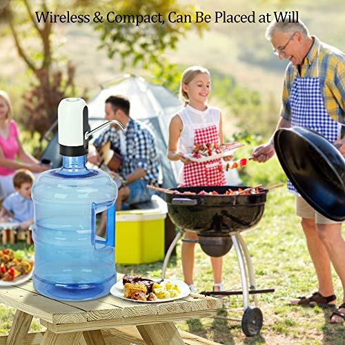 Water Bottle Pump, USB Charging Automatic Drinking Water Pump Portable Electric Water Dispenser Water Bottle Switch for Universal 5 Gallon Bottle by Myvision (Image #1)