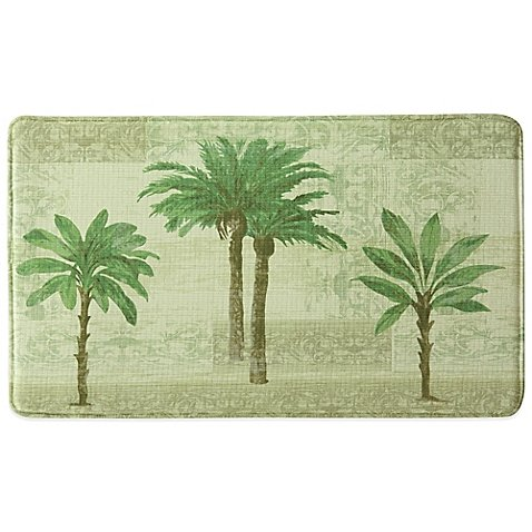 Bacova 20-Inch x 34-Inch Citrus Palm Memory Foam Kitchen Mat (1) by Bacova