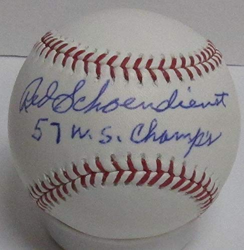 Red Schoendienst Autographed Official MLB Basebal Signed '57 Ws Champs Certified Authentic