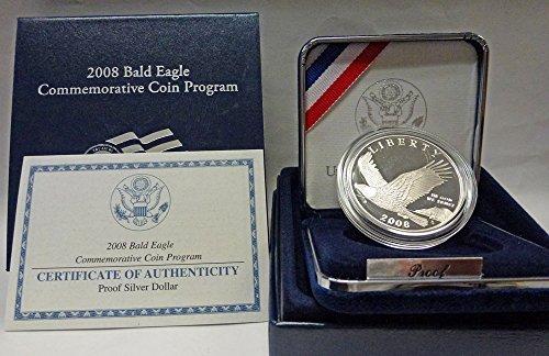 2008 P Commemorative Bald Eagle Proof Dollar OGP US Mint