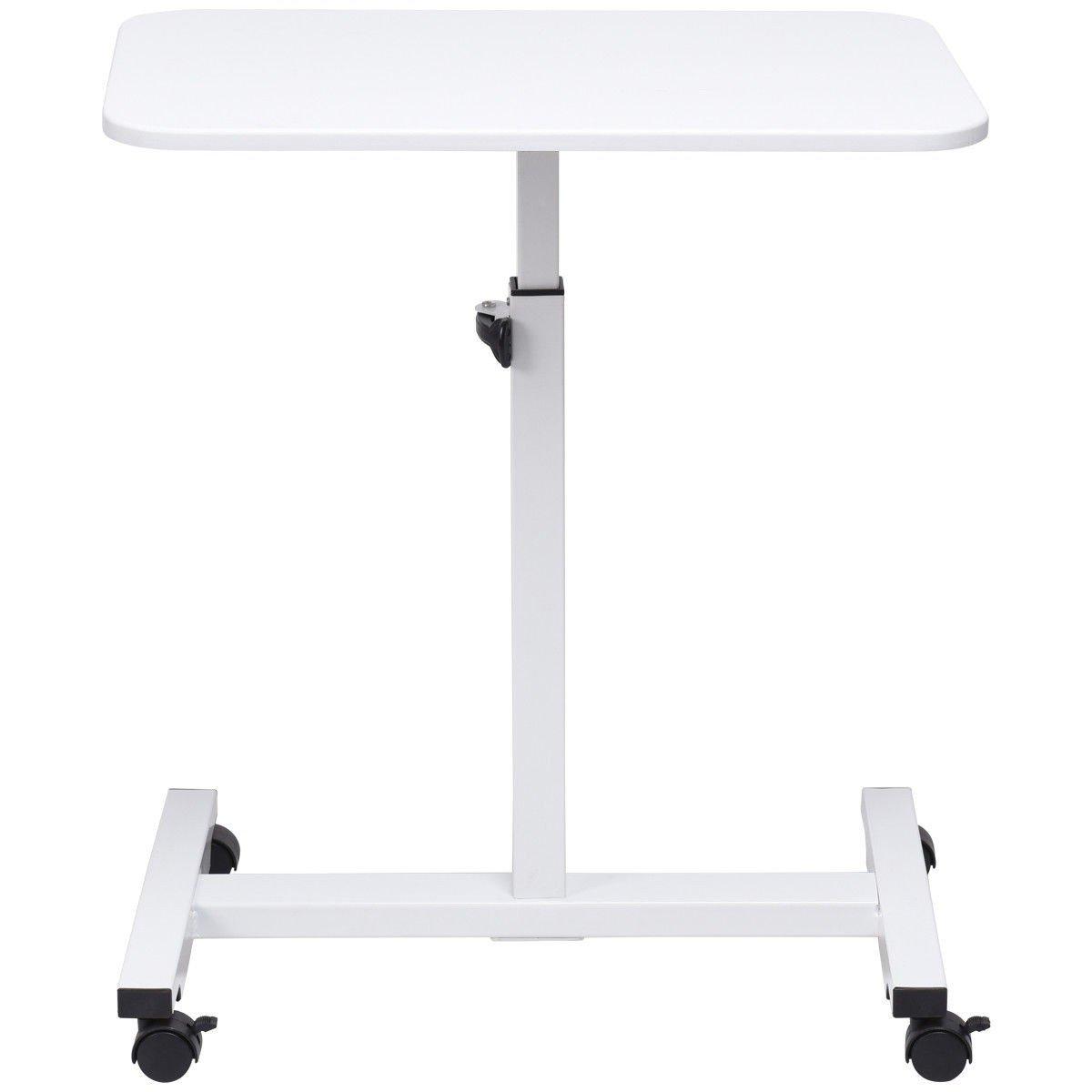 CHOOSEandBUY Adjustable Height Rolling Mobile Laptop Cart Stand Desk Desk Laptop Mobile Cart Rolling Stand Table Adjustable Computer Portable
