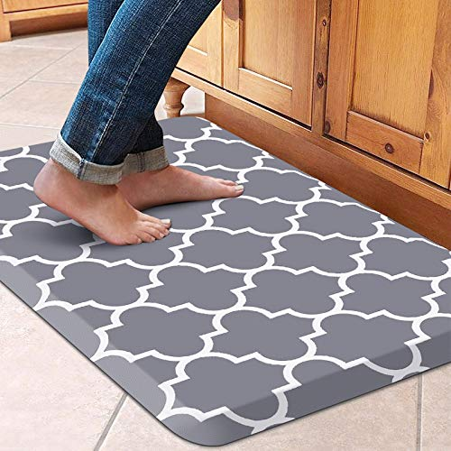 WiseLife Kitchen Mat Cushioned Anti-Fatigue Kitchen Rug, Waterproof Non-Slip Kitchen Mats and Rugs Heavy Duty PVC Ergonomic Comfort Mat for Kitchen, Floor Home, Office, Sink, Laundry