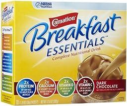 Carnation Instant Breakfast Powder, Dark Chocolate, 10 pk