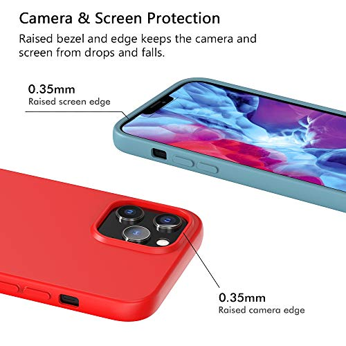 ivoler Pack de 10 Coque pour iPhone 12 Pro/iPhone 12, Mince Souple TPU Silicone Housse Etui Coque de Protection (Noir, Vert Foncé, Vert Clair, Bleu, Orange, Vin Rouge, Rouge, Jaune, Violet, Marron)