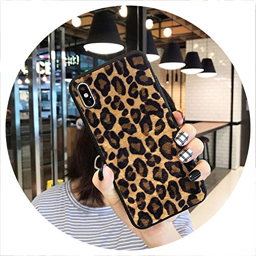 Used, Plush Leopard Print Phone Case for iPhone 6 7 8 Plus for sale  Delivered anywhere in Canada